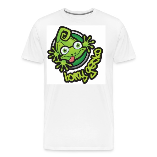 01 Horny Gecko Logo - Men's Premium T-Shirt