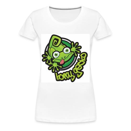 01 Horny Gecko Logo - Women's Premium T-Shirt