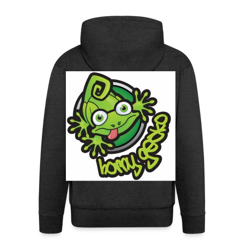 01 Horny Gecko Logo - Men's Premium Hooded Jacket