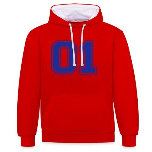 Number one voetbal - Contrast hoodie