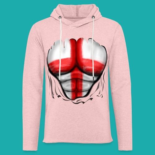 England Flag Ripped Muscles six pack chest t-shirt - Light Unisex Sweatshirt Hoodie