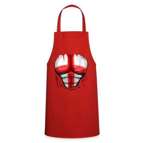 England Flag Ripped Muscles six pack chest t-shirt - Cooking Apron