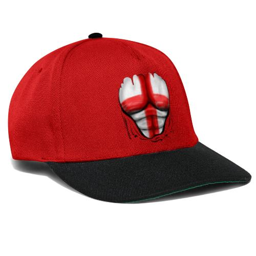 England Flag Ripped Muscles six pack chest t-shirt - Snapback Cap
