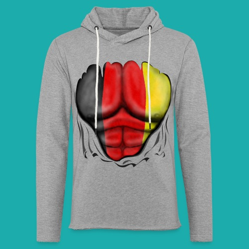 Germany Flag Ripped Muscles six pack chest t-shirt - Light Unisex Sweatshirt Hoodie