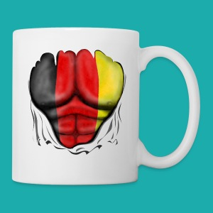 Germany Flag Ripped Muscles six pack chest t-shirt - Mug