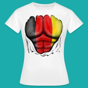 Germany Flag Ripped Muscles six pack chest t-shirt - Women's T-Shirt