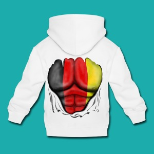 Germany Flag Ripped Muscles six pack chest t-shirt - Kids' Premium Hoodie