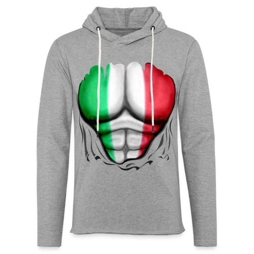 Italy Flag Ripped Muscles six pack chest t-shirt - Light Unisex Sweatshirt Hoodie