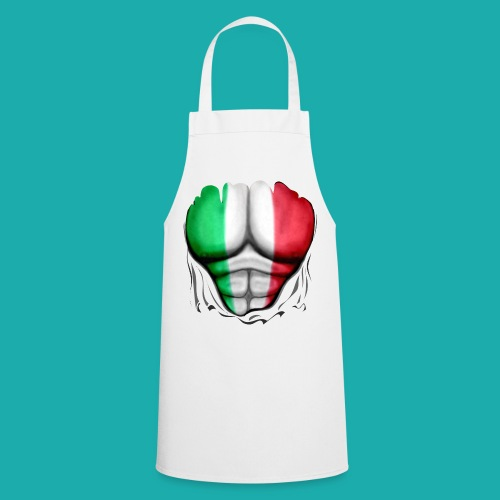 Italy Flag Ripped Muscles six pack chest t-shirt - Cooking Apron