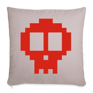 Pixel art skull - Sofa pillow cover 44 x 44 cm