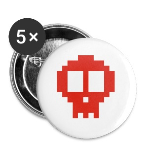 Pixel art skull - Buttons large 56 mm