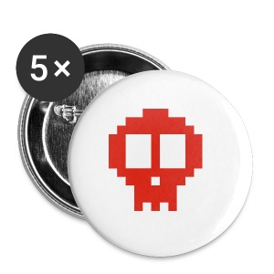 Pixel art skull - Buttons medium 32 mm