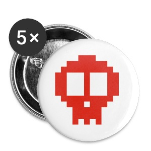 Pixel art skull - Buttons small 25 mm