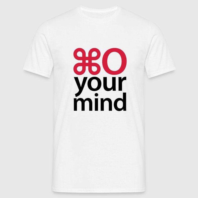 Weiß Open your mind © T-Shirts - Camiseta hombre