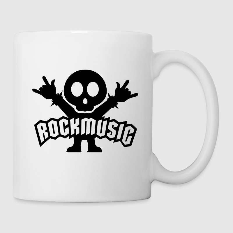 Blanco rock music heavy metal Tazas - Taza
