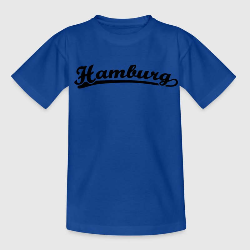 Hamburg Schrift Retro Kinder T-Shirts - Teenager T-Shirt