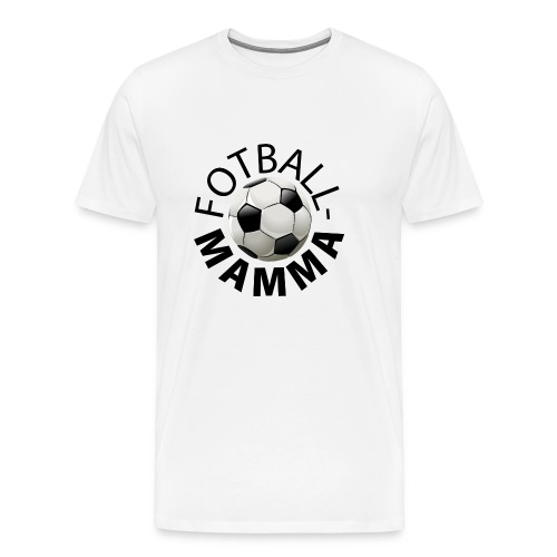 Fotballmamma - Premium T-skjorte for menn