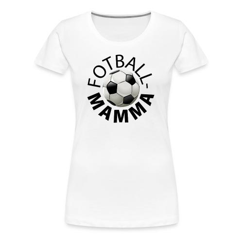 Fotballmamma - Premium T-skjorte for kvinner