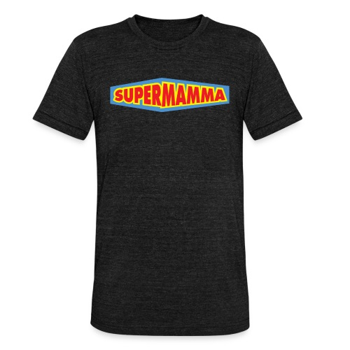 Supermamma - Unisex tri-blend T-skjorte fra Bella + Canvas