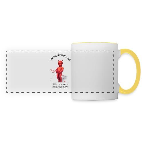 DIABLES ROUGES mannekenpis |♀♂ - Mug panoramique contrasté et blanc
