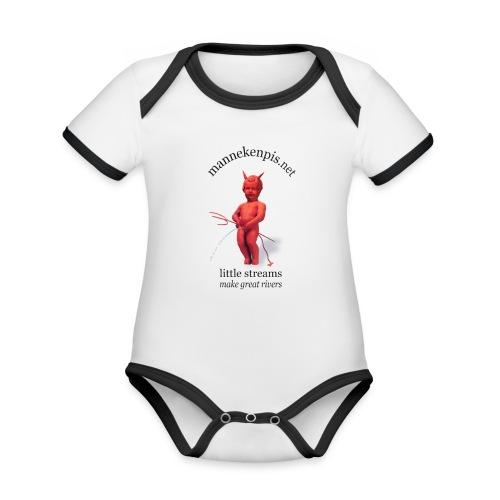 DIABLES ROUGES mannekenpis |♀♂ - Body Bébé bio contrasté manches courtes