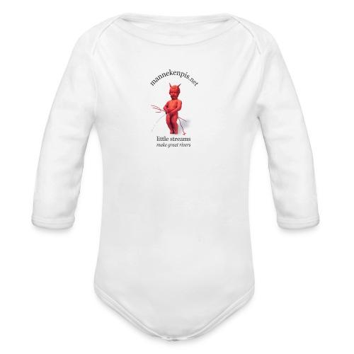 DIABLES ROUGES mannekenpis |♀♂ - Body bébé bio manches longues