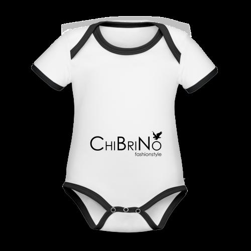 ChiBriNo - Retrotrasche - Baby Bio-Kurzarm-Kontrastbody