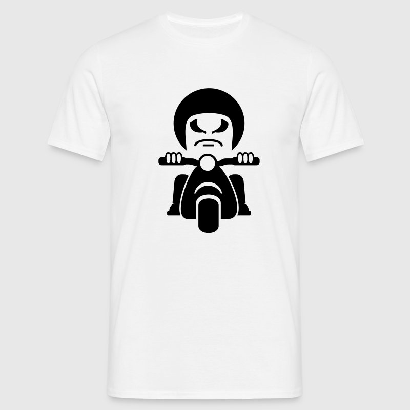 White Rocker auf dem Motorroller / bad dude on a motorcycle  (1c) Men's T-Shirts - Men's T-Shirt