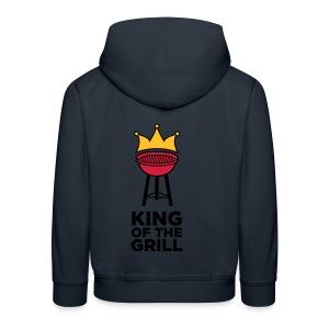 King of the grill - Kinderen trui Premium met capuchon