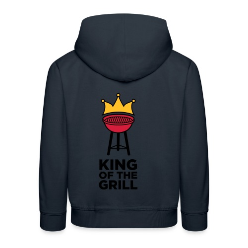 King of the grill - Kinderen trui Premium met capuchon