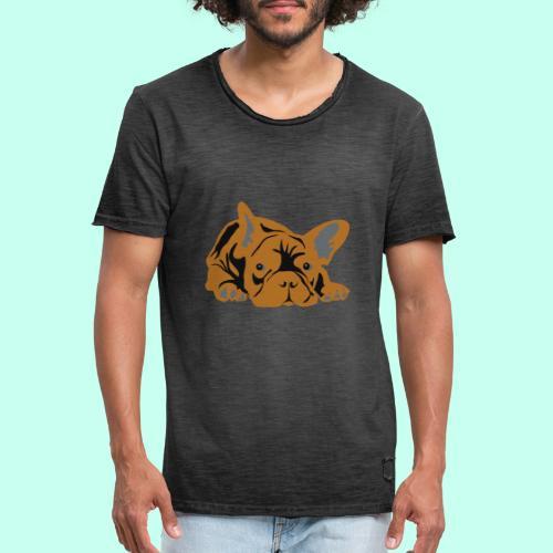 Französische Bulldogge - Männer Vintage T-Shirt