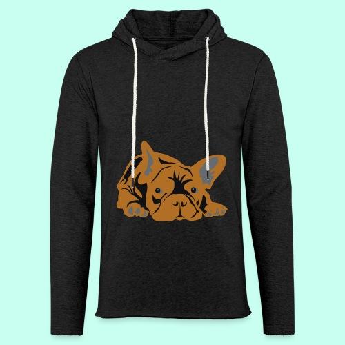 Französische Bulldogge - Leichtes Kapuzensweatshirt Unisex