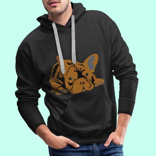 Französische Bulldogge - Männer Premium Hoodie