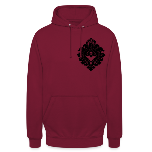 Stand.Hr.-Polo - Ornament weiss links - Unisex Hoodie