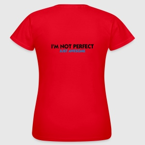 Rood I'm not perfect - Just Awesome (2c) Ondergoed - Vrouwen T-shirt