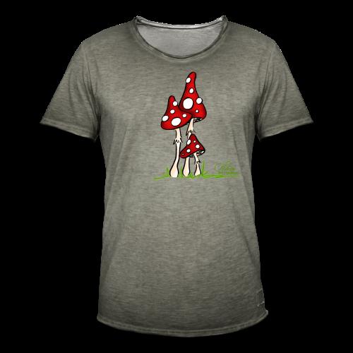 Muchotravky - Fliegenpilze (freche Farben) - Männer Vintage T-Shirt