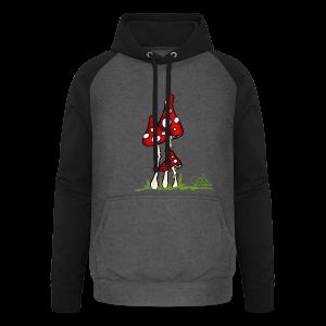 Muchotravky - Fliegenpilze (freche Farben) - Unisex Baseball Hoodie
