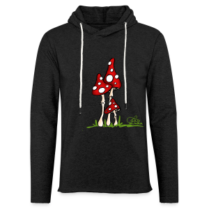 Muchotravky - Fliegenpilze (freche Farben) - Leichtes Kapuzensweatshirt Unisex