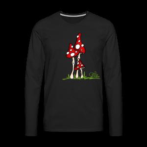 Muchotravky - Fliegenpilze (freche Farben) - Männer Premium Langarmshirt