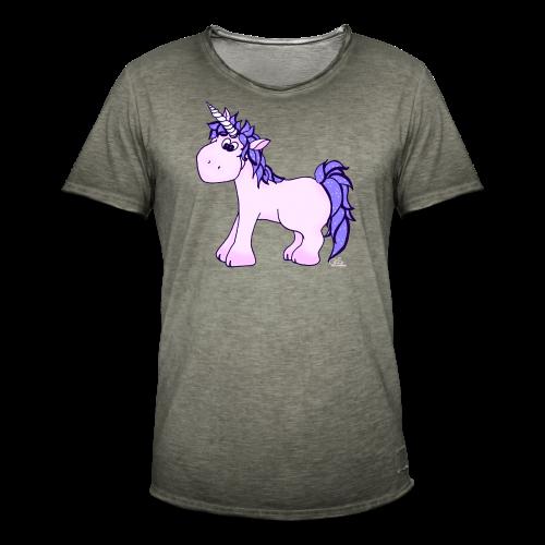 Ennea Einhorn (freche Farben) - Männer Vintage T-Shirt