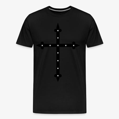 Kreuz neon grün / Cross Männer T-Shirt  - Männer Premium T-Shirt