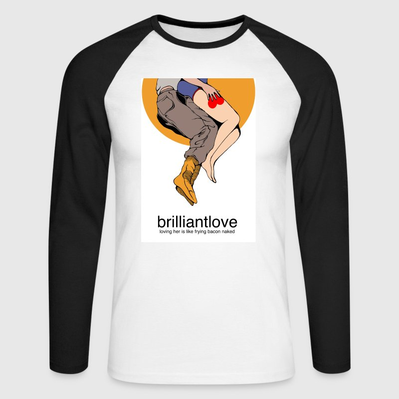 brilliantlove long sleeve Spoon Bacon - Men's Long Sleeve Baseball T-Shirt