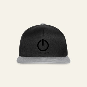 Power off Black - Snapback Cap