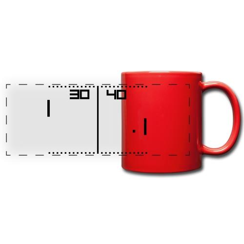 Pong Red - Tazza colorata con vista