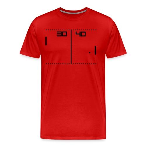 Pong Red - Maglietta Premium da uomo