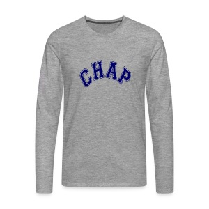 Adult 'CHAP' Logo T (Ash) - Men's Premium Longsleeve Shirt