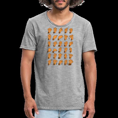 Fingeralphabet Hundpfötchen - Männer Vintage T-Shirt