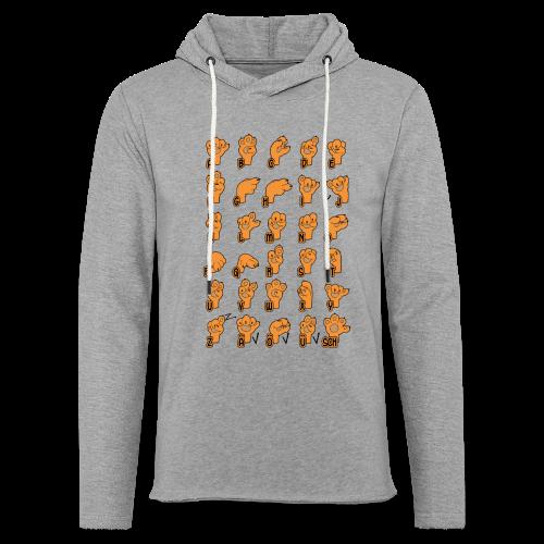 Fingeralphabet Hundpfötchen - Leichtes Kapuzensweatshirt Unisex