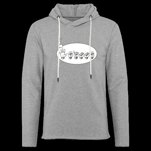 Fingeralphabet (sch...) - Leichtes Kapuzensweatshirt Unisex