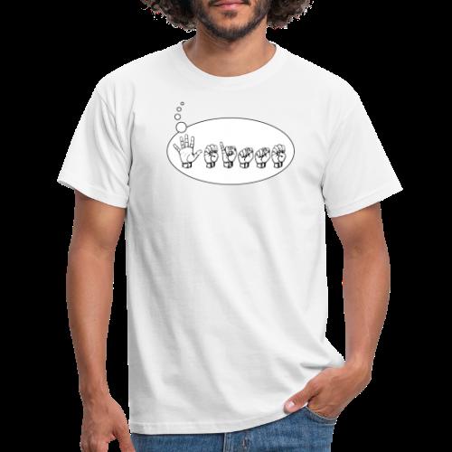 Fingeralphabet (sch...) - Männer T-Shirt